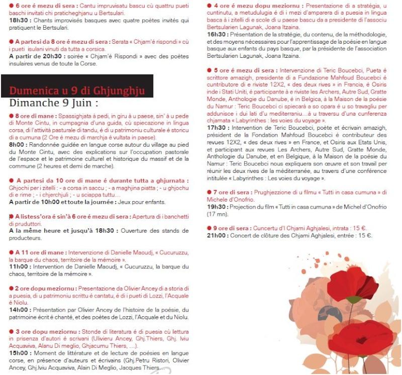 Sicondu Festivale internaziunale di a puesia. U  prugramma. Captur13