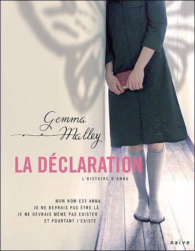 [Malley, Gemma] La Déclaration, l'histoire d'Anna Ladecl10