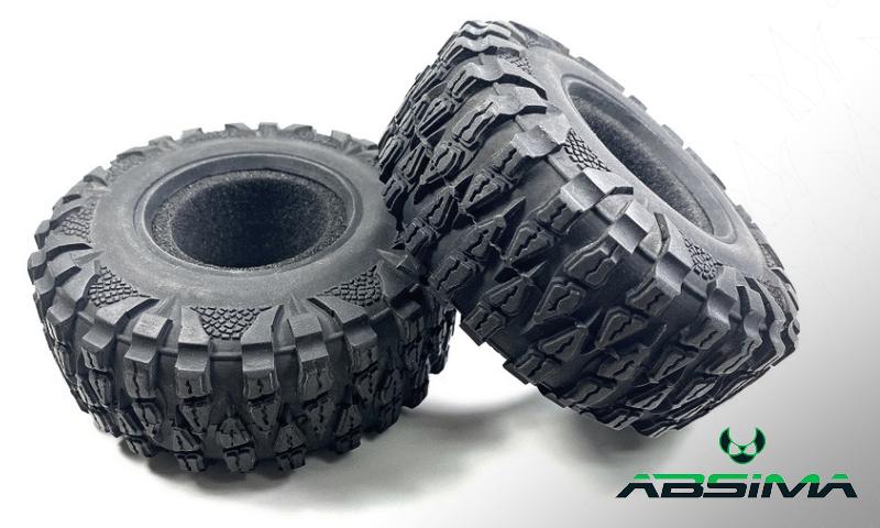 "Roues Crawler 2.2"" 120mm pour TRX4 / Crawler par Absima - 2500036 Tire Set Crawler 2.2"" Absima10"