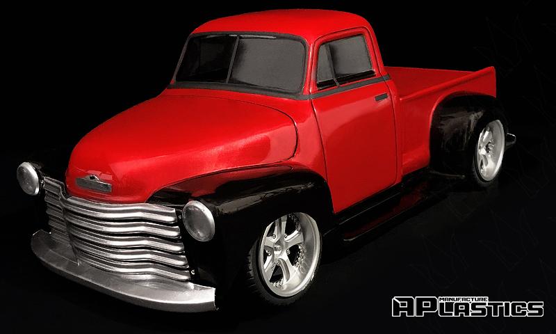[NEW]Carro Chevy Pickup 1951 pour 4TEC 2.0 empattement 259 mm Aplastics RC - Clear drift body Aplast10