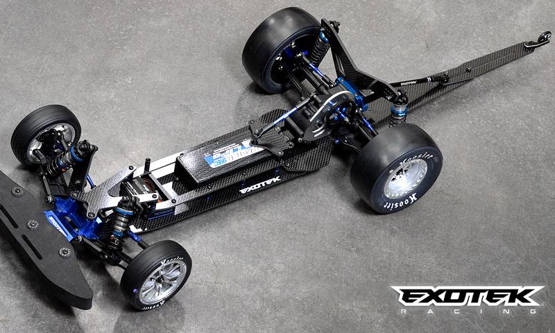 [OLD NEW]Chassis TX VADER Dragster Carbone pour Slash / Bandit Exotek Racing Exotek10
