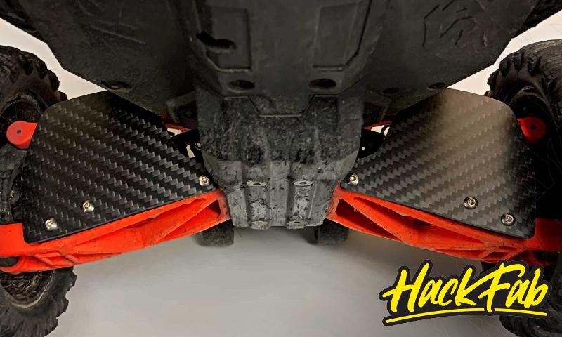 [NEW]Bavette arrière Carbone pour Triangle Maxx Standard & Long Hack Fab RC - Carbon Fiber Mud Guard Hackfa11