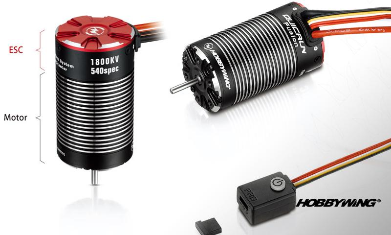 [OLD NEW]Moteur Sensored ESC Combiné FUSION 1/10 WP - QuicRun Fusion BL SYS for Crawler-540 Spec Hobbyw10