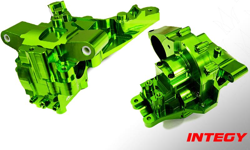 [NEW]BulkHead Alu Av-Arr Couvercle transmission Maxx Integy - Billet Machined Bulkhead Gear Covers  Integy11
