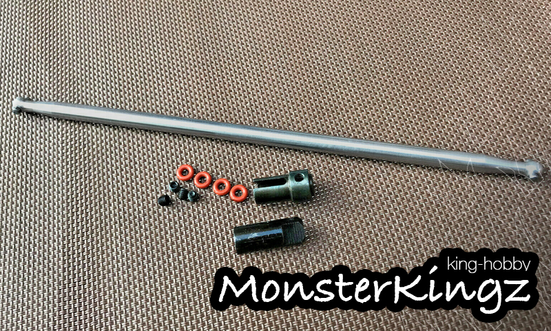 [NEW]Cardan Central CVD pour Rustler 4X4 VXL par MonsterKingz / King Hobby - Center Drive Shaft New_mo10