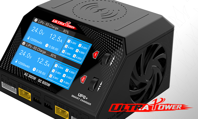 [NEW] Chargeur UP6+ DUO 2x300W/16A AC/DC par Ultra Power - Dual Channel AC/DC Charger New_ul10