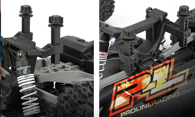 [NEW] Support Carro pour Rustler 4X4 par Pro-Line Racing Extended Front and Rear Body Mounts Pro-li12