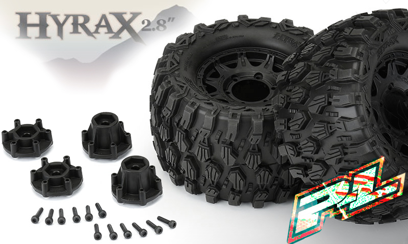 """[NEW]Roues Hyrax 2.8"""" pour 1/10 Pro-Line - Hyrax 2.8"""" All Terrain Tires Mounted Pro-li17"""