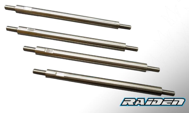 [NEW]Biellettes Av&Arr Titanium 7mm pour E-REVO Summit par Raiden Racing - Front Rear Titanium Rock Raiden12