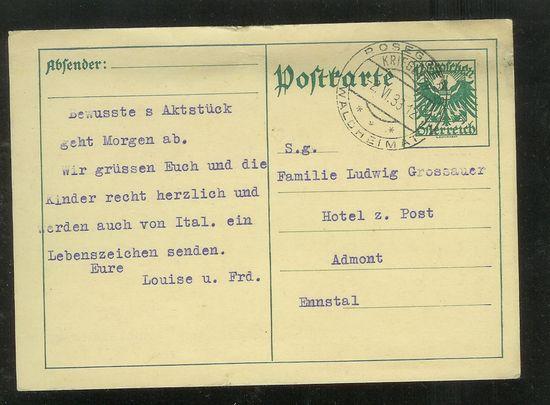 Postkarten -  allgemein bis 1938 Oeganz10