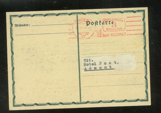 Postkarten -  allgemein bis 1938 Oeganz11