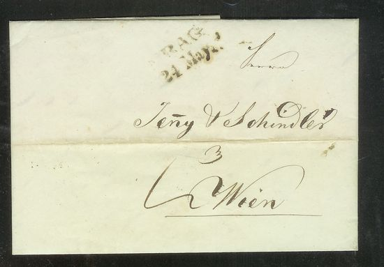Vorphilatelie Österreich  -   Briefe aus der Vormarkenzeit Scan_111