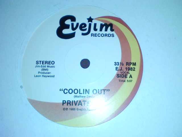 """PRIVATE JOY - COOLIN OUT 12"""" SUR EVEJIM P0212011"""