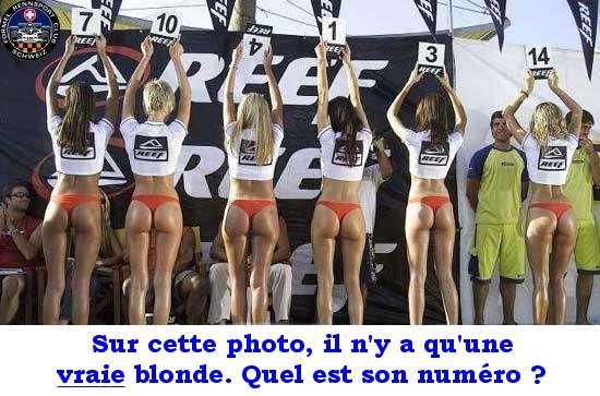 Sur cette photo il y a une vrai blonde............ Femme-10