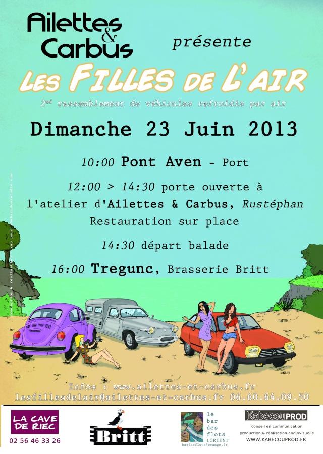 """[dept 29] 23 Juin 2013 :""""Les Filles de L'Air"""" 2ème édition Affich10"""