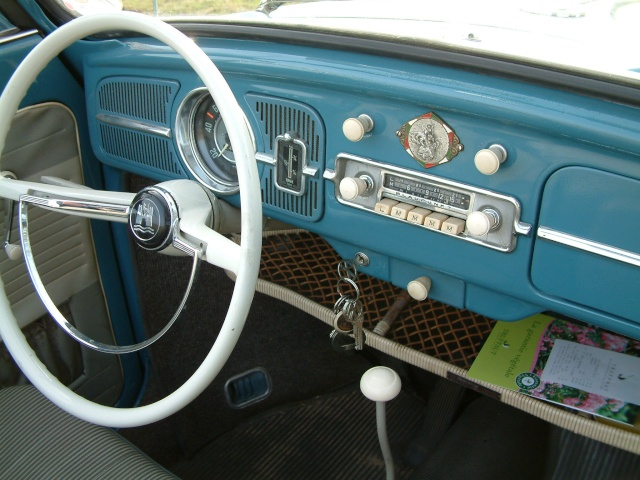 Cabriolet Golf Blue 1961 Tablea10