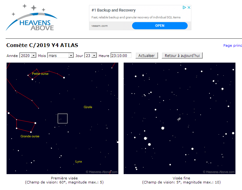 C/2019 Y4 (ATLAS) : une comète qui promet ? C-201910