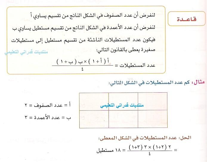 طريقة  حساب عدد مستطيلات عند تقسيم مستقيم Caeco10