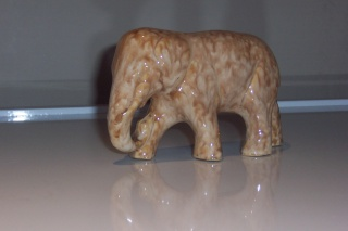 Specials  Department - early Trickle Glaze Un-numbered Animals Elepha10