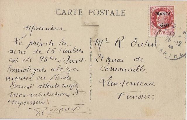 POSTE AUX ARMEES 11/10/39 Caen_010