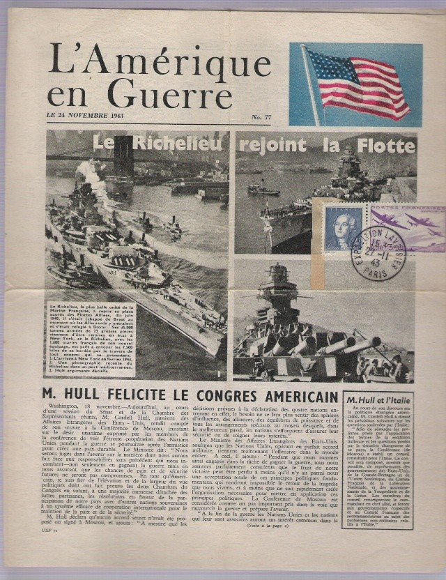 ENVELOPPE POSTE NAVALE RF à CASABLANCA 1944 Le_ric10