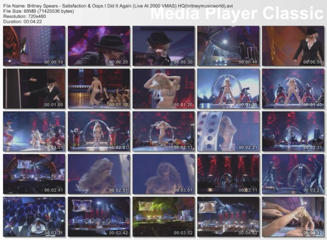 Satisfaction & Oops I Did It Again (Live At 2000 VMAS) HQ Britne41