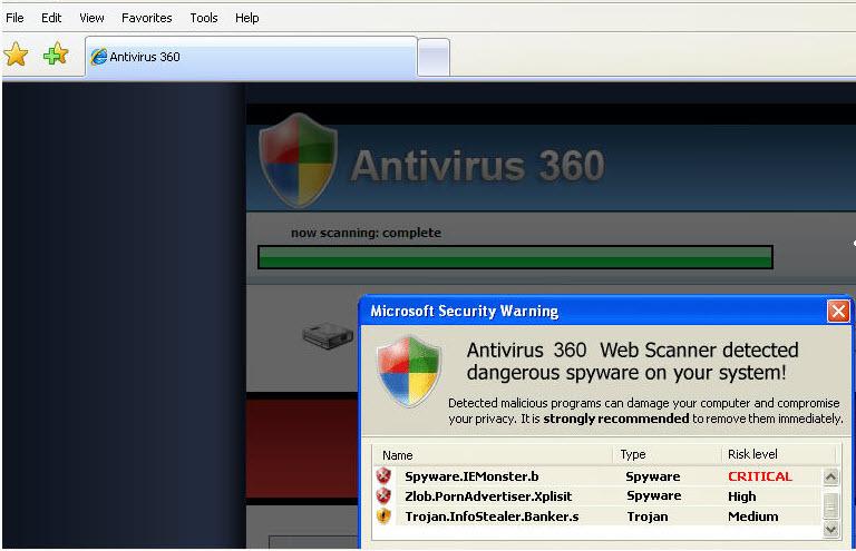 Antivirus 360 - Guida alla rimozione 36110