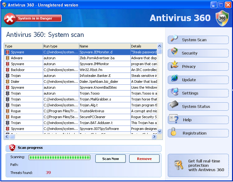 Antivirus 360 - Guida alla rimozione 36210