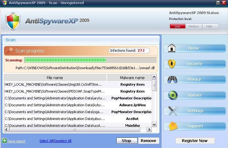 AntiSpyware XP 2009 - Guida alla rimozione Antisp10