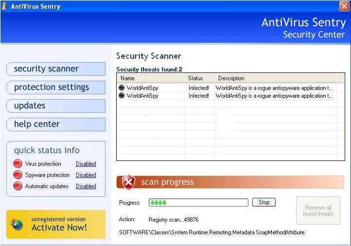 Antivirus Sentry - Guida alla rimozione Antivi10