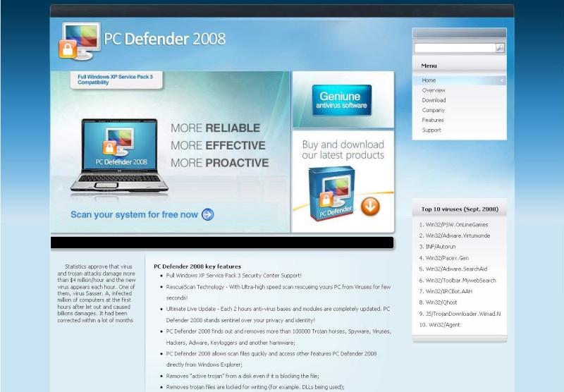 PC Defender 2008 - Guida alla rimzione Pc_def11