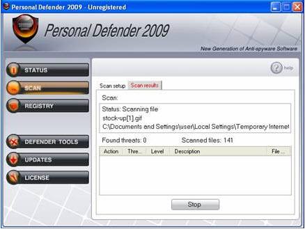 Personal Defender 2009 - Guida alla rimozione Person11