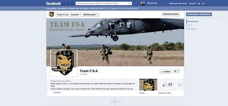 La FSA sur Facebook