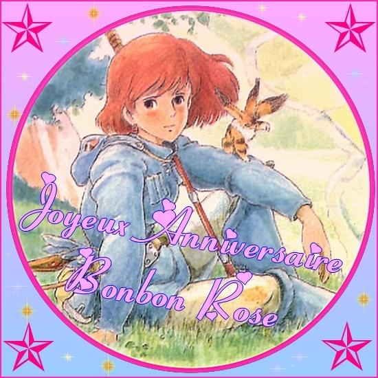 Joyeux anniversaire Bonbon Rose Image_11