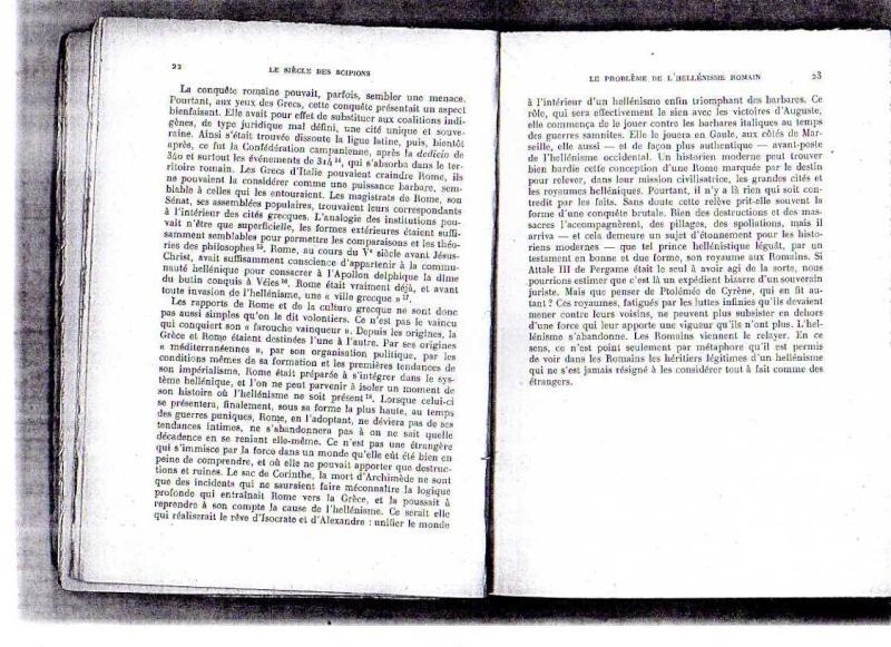 fiches de lilas sur le siecle des scipions + scan du livre 612