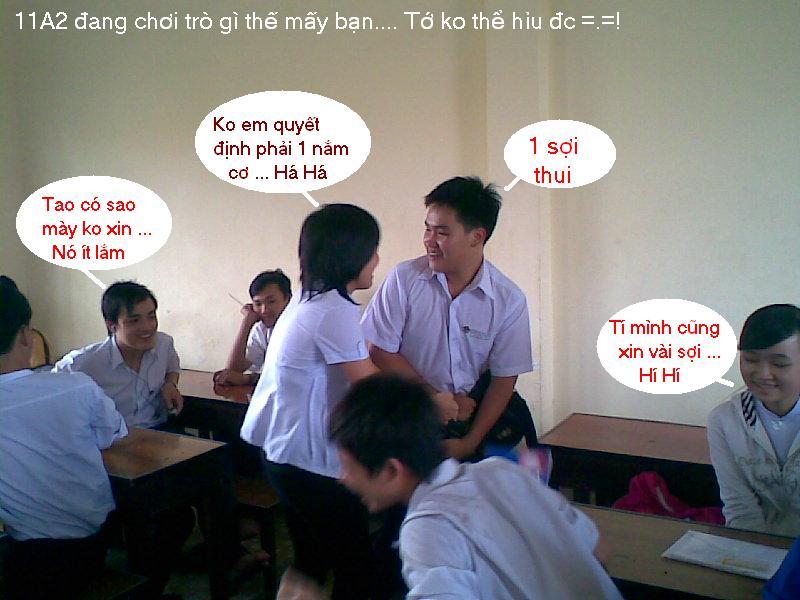 Cái gì đây =.=! Tệ nạn lớp học =.=! Anhhe10