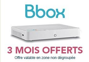 3 mois Bbox offerts en zone non-dégroupée soit 113,70€ d'économie Offre310