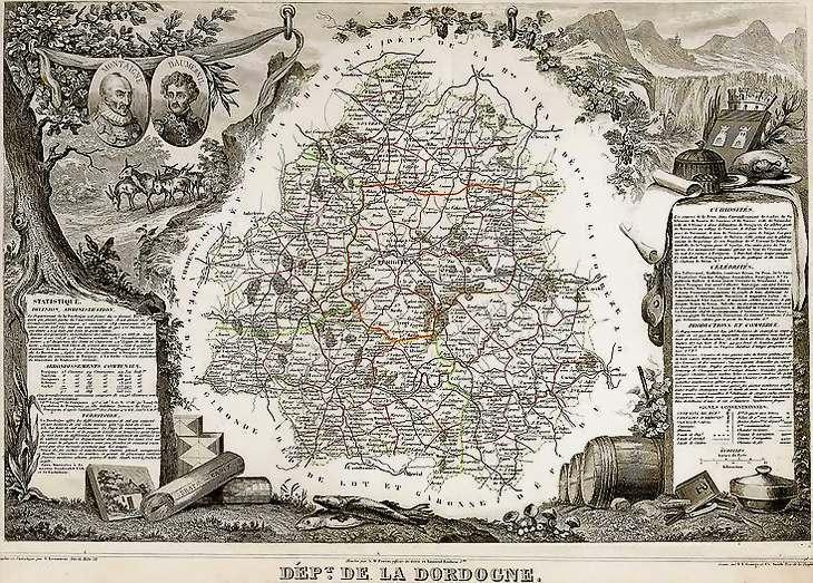 Département de la Dordogne  vers 1850 Dordog10