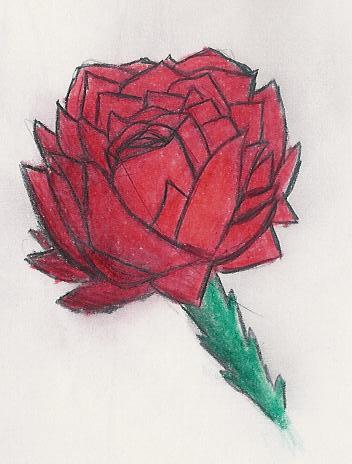 Dibujitos de Flores Rosa10