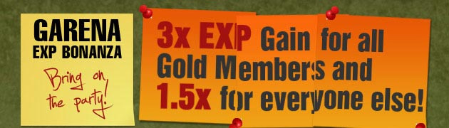 EXP Bonanza from Dec 24 to Jan 1 - (3x for Gold Member, 1.5x for Everyone!) Embedd10