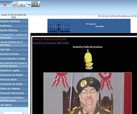 Hacker chileno ataca web del Ministerio de Defensa peruano 18dc3011