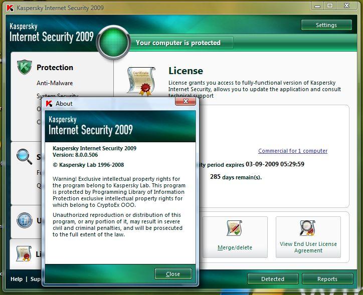 Kaspersky Internet Security 2009 8.0.0.506 - Final 4b0f3l10