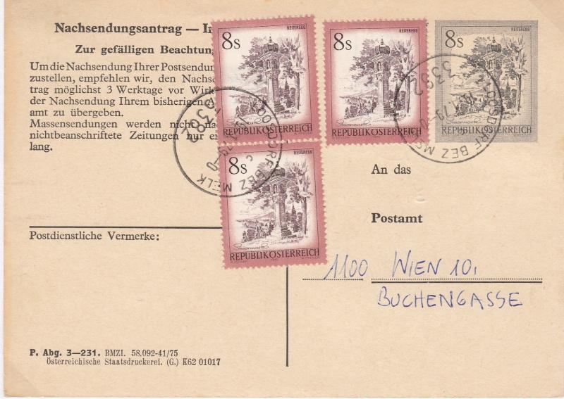 Drucksorten der Post - Nachsendungsantrag Img23