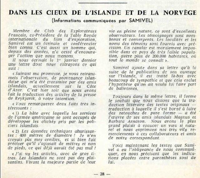 "Islande et Norvège - Revue ""Phénomènes spatiaux"" du GEPA n° 19 - Mars 1969 Island10"