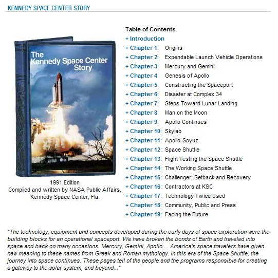 Livre : The Kennedy Space Center Story Book10