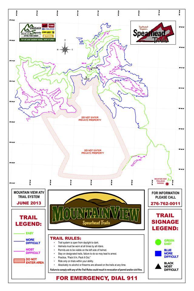 Virgina,Spearhead Trail system--Mountain View Trail head Spear10