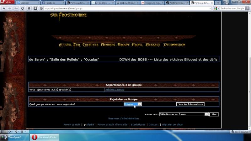 S'ajouter dans un groupe pour voir plus de visibilité sur le forum Screen11