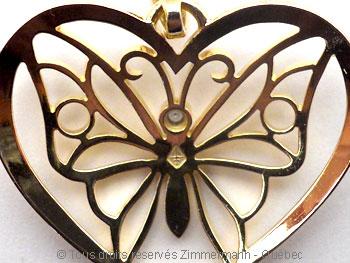 Papillon ( de retour ) ajouré et découpé dans un seul plané de 12/10 mm Peob8312