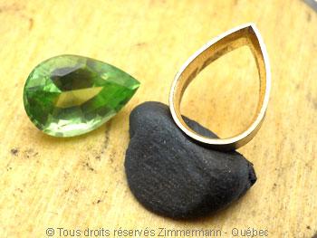 Pendentif or Péridot 3,45 cts Diamant 7/100 ct................. Peofb210