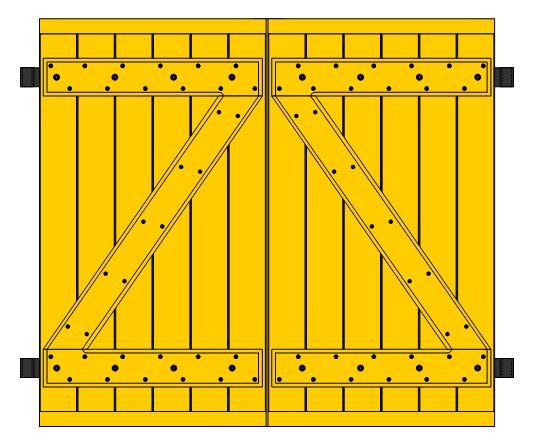 Fabrication d'une paire de volets Vue_in10
